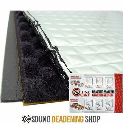 Silent Coat Starter Set Car Deadening Vibration Sound Proofing Damping Mat