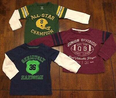 Lot Of 3 Carter's Baby Boy Long Sleeve T-Shirts - SIZE 18 MONTHS