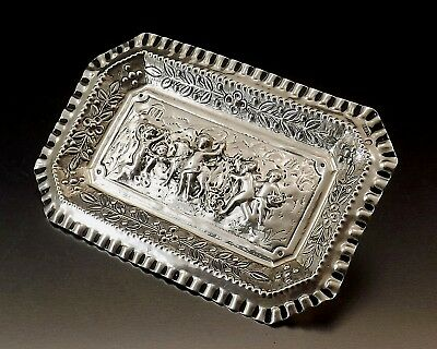 Cut Empty Pocket Sterling Silver Goldsmith Spanish End 19th Century