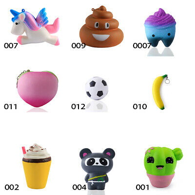 For Stress Reliving Slow Rising Multi-Shape Super Cute Soft Squeeze Toy Ornament