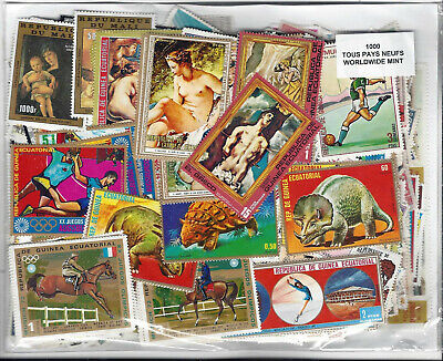 World Wide 1000 Different stamps ALL MINT MOST LARGE