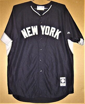 reputable site 86f98 e5d63 DEREK JETER MAJESTIC Cool Base Men's White New York Yankees ...