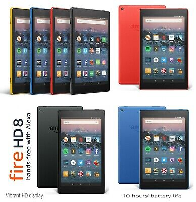 NEW Amazon Fire HD 8 16GB Tablet 8th Generation With Alexa / Special Offers
