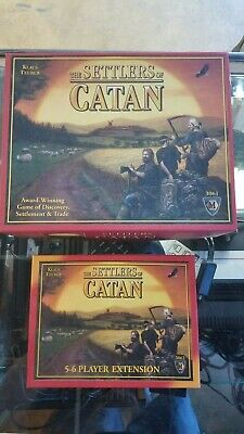 The Settlers of Catan Board Game w/ 5-6 player expansion  used