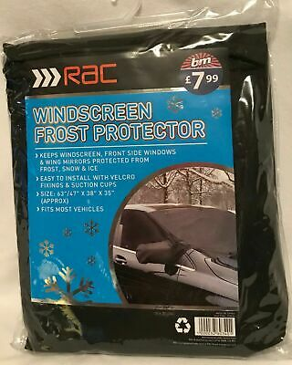 RAC - Windscreen Frost Protector - Black - Fits Most Vehicles - Brand New