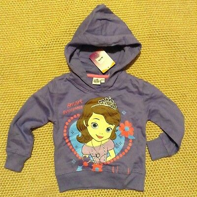 Girls Official Disney Princess Sofia  Hooded Sweat Jacket Hoody 18 months-24 mon