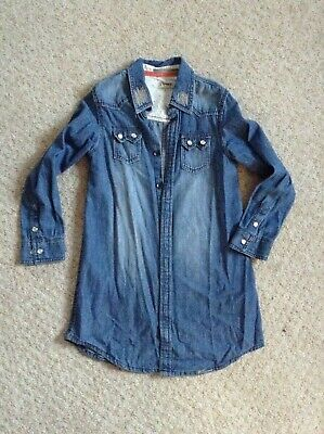 Girls Next Denim Shirt Dress age 9 years worn once in perfect cond