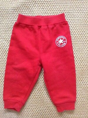 Genuine Converse All Star  Baby Girls Red Joggers   Age 12 Months