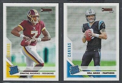 2019 Donruss Football Rated Rookies CANVAS Parallels Complete Your Set You Pick