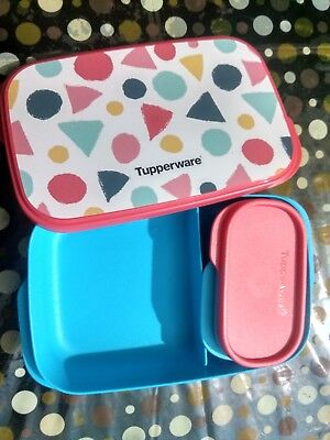 Tupperware My Lunch Box Shape 590 ml with 120 ml Inner Liquid Tight Container,