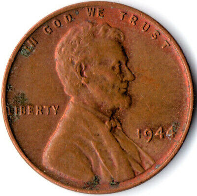 United States / 1944 Wheat Penny / One Cent / Lincoln / Collectible  #Wt3920
