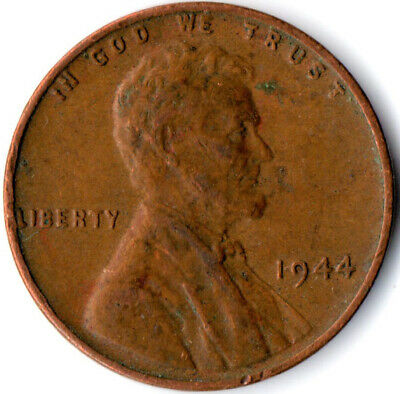 United States / 1944 Wheat Penny / One Cent / Lincoln / Collectible  #Wt3921
