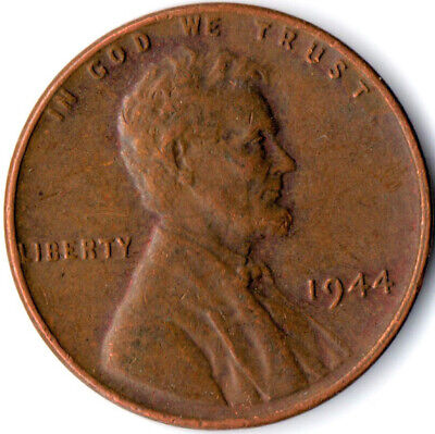 United States / 1944 Wheat Penny / One Cent / Lincoln / Collectible  #Wt3923