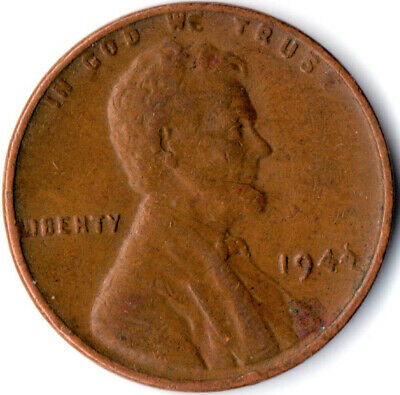 United States / 1944 Wheat Penny / One Cent / Lincoln / Collectible  #Wt3924