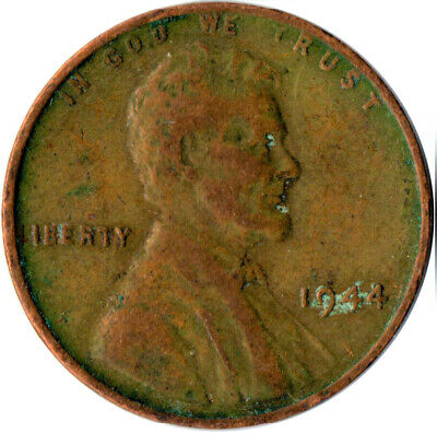 United States / 1944 Wheat Penny / One Cent / Lincoln / Collectible  #Wt3925