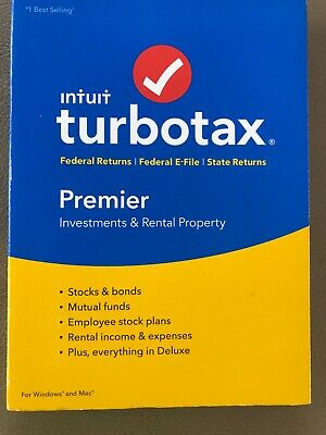 TurboTax Premier + State 2018 Tax Software PC / Mac Disc BRAND NEW - SEALED!