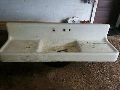 Vintage/antique farmhouse drainboard sink