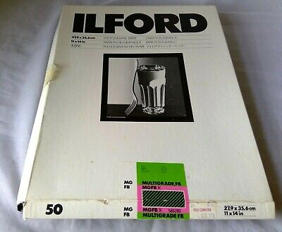 Ilford Multigrade FB Glossy 11x14 2,79x 35,6 Photographic Paper qty 50 49 new