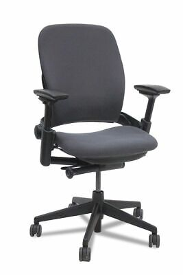 Steelcase Leap Chair V2 Task Chair - Fully Loaded Link-Black Fabric