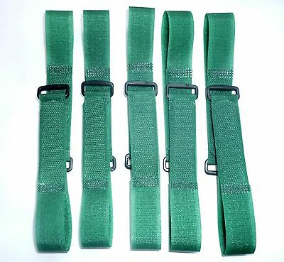 Touch Fastener Cable Tie Hook and Loop 20 Piece 25cm 250mm x20mm Green