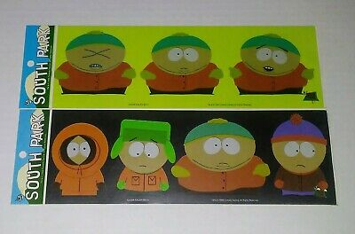 "South Park Scene Stickers 1998 FREE US Postage Set of 5 Kenny Stan Santa Al !/""!"