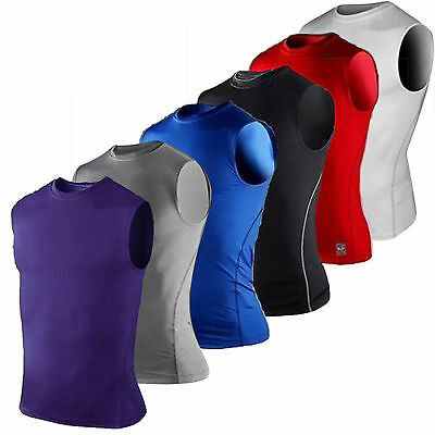 Mens Muscle Sleeveless Shirt Tank Top T-Shirts Sports Compression Fitness Vest