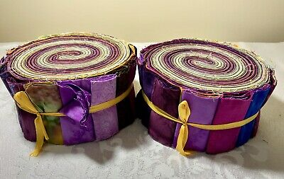 Batik Cotton Jelly Roll 40pc  Spring Brights Quilting craft Sewing