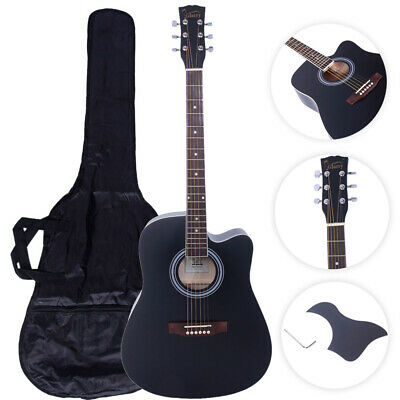 "New 41"" Acoustic 6-String Guitar for Beginners Students Black"