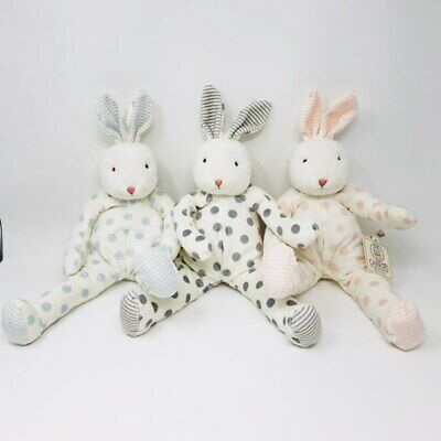 Bunnies by the Bay Plush Bunny Rabbit Ittybit Wee White  Pink Nose Beanie 6 Inch