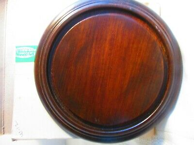 Clock, Doll or Display Glass Dome 5 3/4 inside ridge Walnut Base New (BASE ONLY)