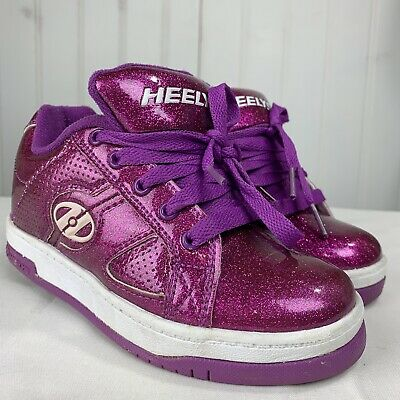 Heeleys Skate Sneakers Girls Pink Sparkle Shoe Size 13C Style 77052