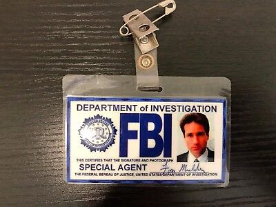 Fox Mulder - FBI Badge - X-Files