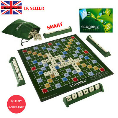Original Scrabble Board Game Family Letter Classic Gift Word Puzzle Kids Party