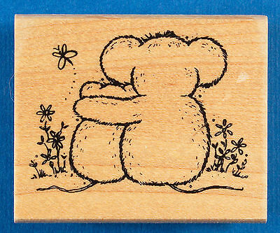Mouse Hug Rubber Stamp by Great Impressions - Mother or Father and Child