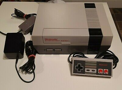 NES Nintendo Entertainment System Console, Controller, and Hookups