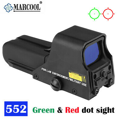 Tactical Holographic Sight Weapon Scope Holosight Red Green Dot Clone 552 BLK