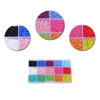 3mm/4mm Glass Spacer Beads Rice 15 Grid Bead Combination DIY Kits