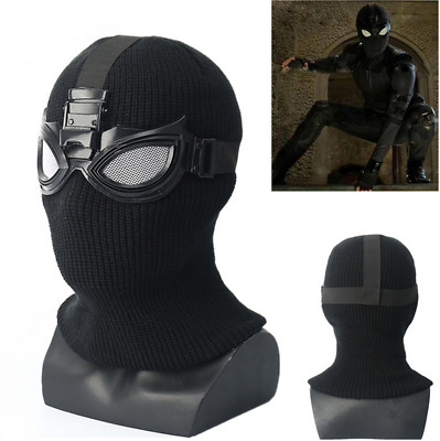 Spider-Man Far From Home Stealth Suit Masks Spiderman Cosplay Full Mask Prop