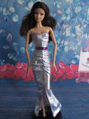 Barbie Doll Sweetheart Slit Prom Evening Dress Gown Outfit Clothes