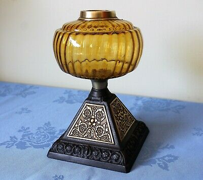 Victorian oil lamp base with font