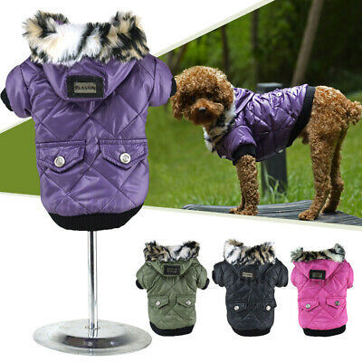 Waterproof Warm Coat Puppy Hoodie Thick Jacket Clothes Apparel for Small Dog Pet