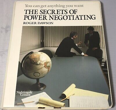 The Secrets of Power Negotiating by Roger Dawson 6 Cassette Audiobook