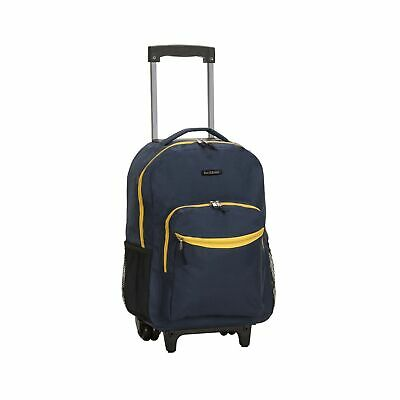 Rockland Luggage 17 Inch Rolling Backpack, Navy, One Size