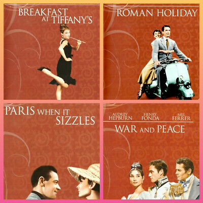 Audrey Hepburn DVD Movie Sale Mixed Titles $6.99 Each + Bonus Postcard