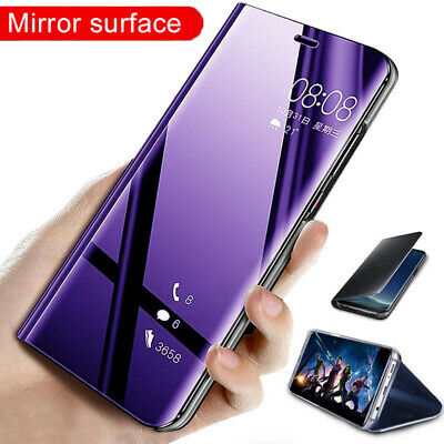 360° Flip Stand Clear View Mirror Case Cover for Samsung Galaxy Note 10 S10 Plus