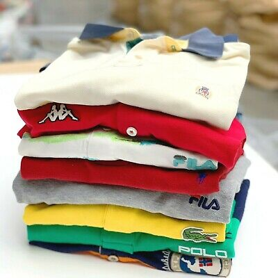 VINTAGE WHOLESALE 30 x BRANDED POLO T-SHIRTS RALPH LAUREN TOMMY NAUTICA GRADE A