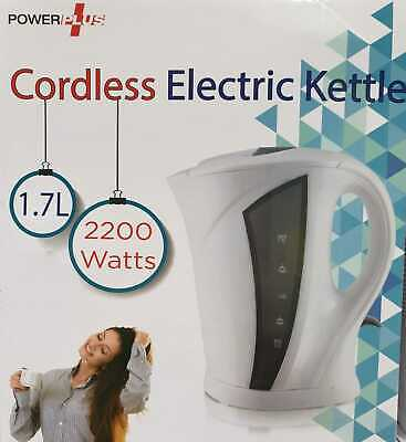 Cordless Electric Kettle Rapid Boil Jug Coffee Tea Hot Water Kettle White 1.7L