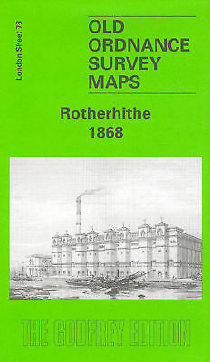 Old Ordnance Survey Map Rotherhithe 1868