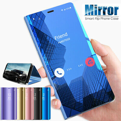 For Samsung Galaxy Note10 S10 Plus Case Luxury 360° Flip Mirror Clear View Cover