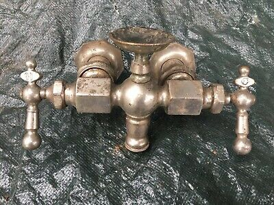 antique nickel plated Claw Foot  Bath tub brass faucet fixture